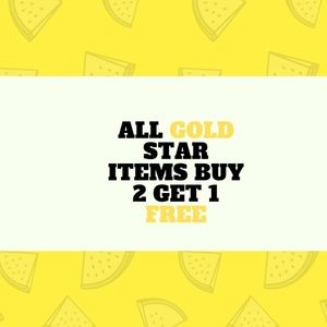 ALL GOLD STAR BUY 2 GET ONE FREE